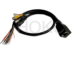 Network half-dome camera cable